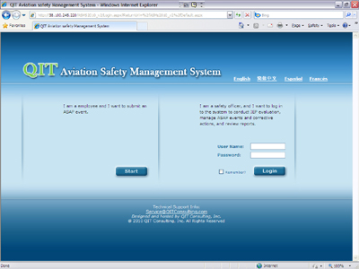 Aviation Safety Management System